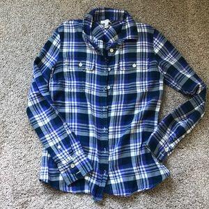 Jcrew button up flannel